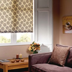 Eclipse baroque roller blind