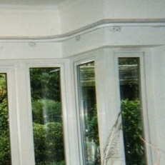 Harrow Blinds: bay window curtain track