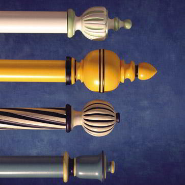 Hunter & Hyland painted wood finials